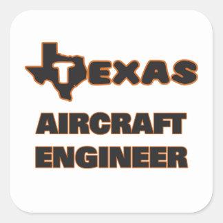 De Ingenieur van het Vliegtuig van Texas Vierkante Sticker