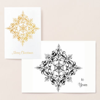 De Ingewikkelde Gouden FiligraanRol van Kerstmis Folie Kaarten