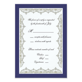 De ingewikkelde Koninklijke Kaart van de Reactie 8,9x12,7 Uitnodiging Kaart