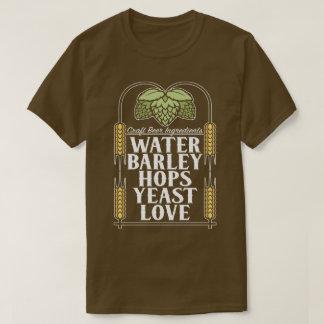 De Ingrediënten die van het Bier van de ambacht T Shirt