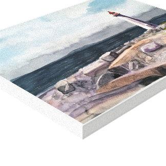 De INHAM van PEGGY, - waterverf, verpakte Canvas Afdruk
