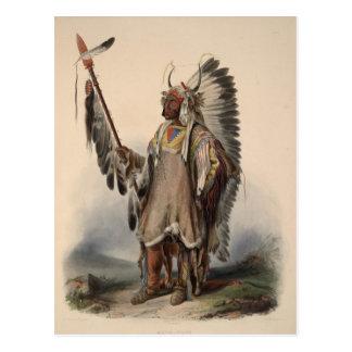de Inheemse Amercan Belangrijkste Herdruk van de Briefkaart
