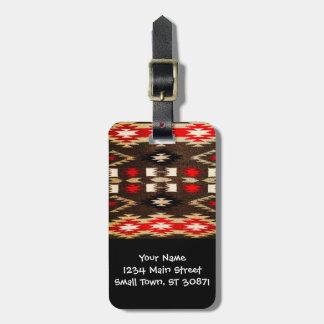 De inheemse Amerikaanse Druk van het Ontwerp van Bagagelabel