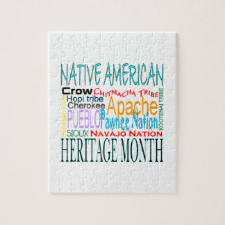 De inheemse Amerikaanse Maand van de Erfenis Puzzels