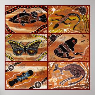 De inheemse Collage van de Kunst Poster