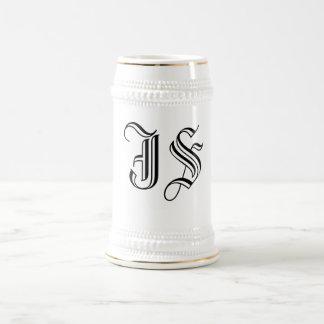 De Initialen Koffie van de kalligrafie en de Stene Bierpul