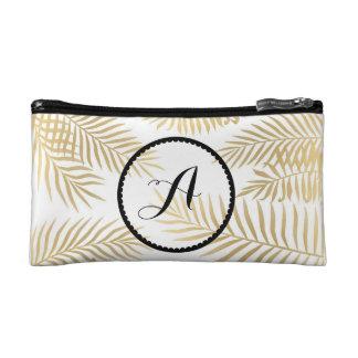 De Initialen van bladgouden Make-up Bag