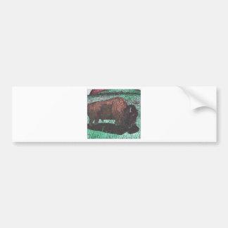 De inkttekening van buffels bumpersticker
