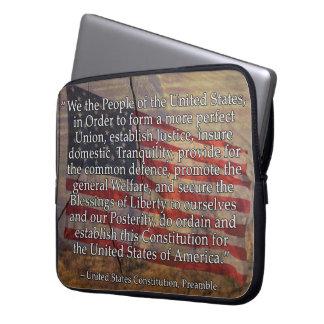De Inleiding van de Grondwet van de V.S. over Laptop Sleeve