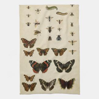 De Insecten van de tuin door de Studio van de Keuken Handdoek