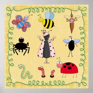 De Insecten van het Poster van het kinderdagverbli