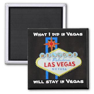 De Insinuatie van Las Vegas Vierkante Magneet