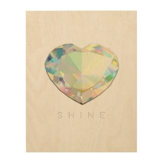 De Inspiratie van het Hart van de diamant Hout Afdruk