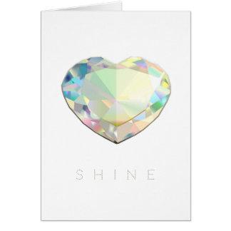 De Inspiratie van het Hart van de diamant Wenskaart