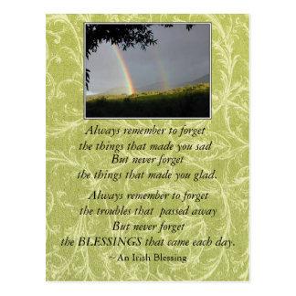 De inspirerend Ierse Zegen herinnert zich altijd Briefkaart