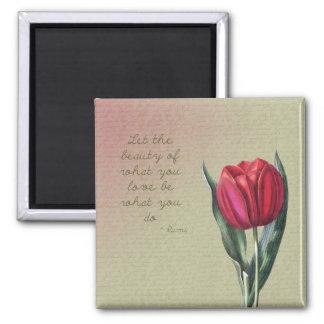 De inspirerend Tulp van de Schoonheid Koelkast Magneten