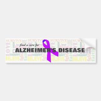 De Inspirerend Woorden van Alzheimer Bumpersticker