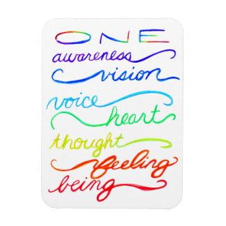 De inspirerend Woorden van de Regenboog van Chakra Magneet