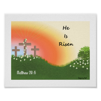De inspirerend Zonsopgang van Pasen Poster