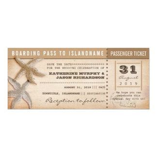 de instapkaart bewaart de datum vintage kaartjes 10,2x23,5 uitnodiging kaart