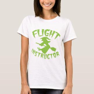 De instructeursheks van de vlucht op een t shirt