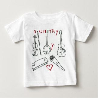 De INSTRUMENTEN VAN de MUZIEK COUNTRY.jpg Baby T Shirts