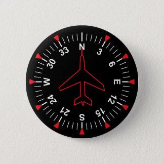 De Instrumenten van de vlucht Ronde Button 5,7 Cm