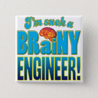 De Intelligente Hersenen van de ingenieur Vierkante Button 5,1 Cm