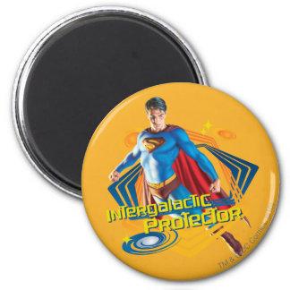 De Intergalactische Beschermer van de superman Ronde Magneet 5,7 Cm