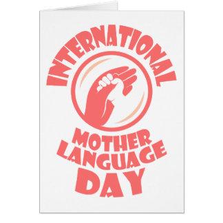 De internationale Dag van de Taal van de Moeder - Wenskaart