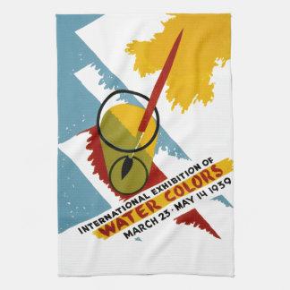 De internationale Tentoonstelling van de Kleur van Keuken Handdoek
