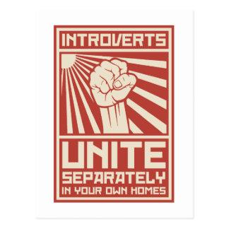 De introverten verenigen zich afzonderlijk in Uw Briefkaart