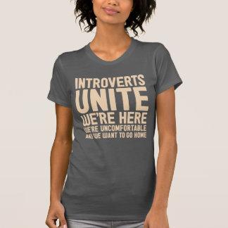 De INTROVERTEN VERENIGEN zich wij zijn hier wij T Shirt