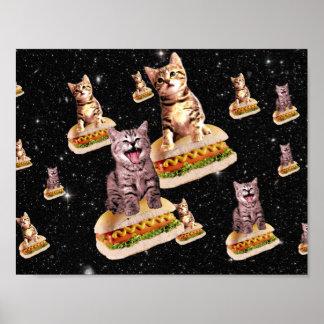 de invasie van de hotdogkat poster