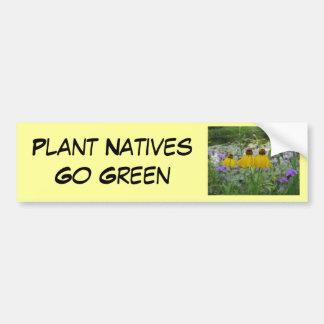 De Inwoners van het plant gaan Groen Ijzerkruid Bumpersticker