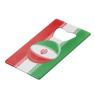 De Iraanse Vlag van Iran Creditkaart Flessenopener
