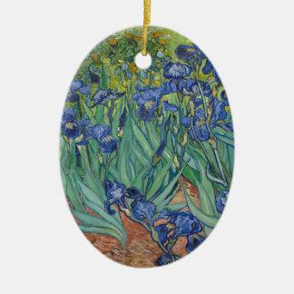 De Irissen die van Vincent van Gogh het Werk van Keramisch Ovaal Ornament