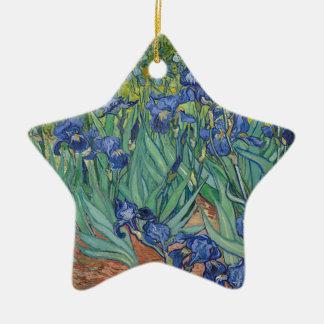 De Irissen die van Vincent van Gogh het Werk van Keramisch Ster Ornament