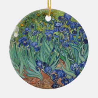 De Irissen die van Vincent van Gogh het Werk van Rond Keramisch Ornament