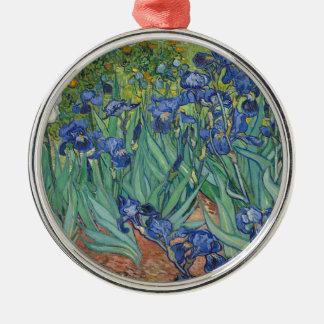De Irissen die van Vincent van Gogh het Werk van Zilverkleurig Rond Ornament