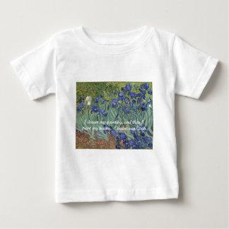 De Irissen van Vincent van Gogh & het Citaat van Baby T Shirts