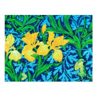 De Irissen van William Morris, het Gele en Blauw Briefkaart