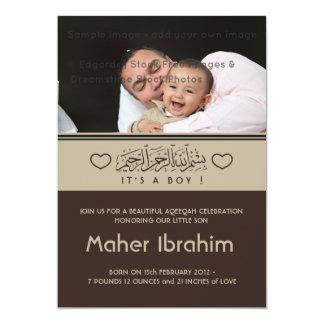 De Islamitische aankondiging van het de fotobaby