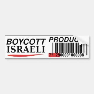 De Israëlische Producten van de boycot Bumpersticker