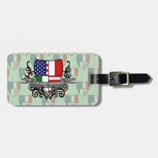 De italiaans-Amerikaanse Vlag van het Schild Bagagelabel