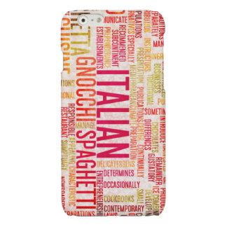 De Italiaanse Achtergrond van het Menu van het Glossy iPhone 6 Hoesje