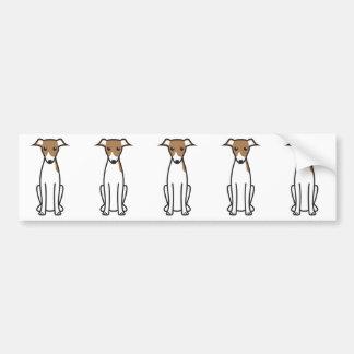De Italiaanse Cartoon van de Hond van de Windhond Bumperstickers
