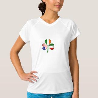 De Italiaanse Klaver van de Vlag T Shirt