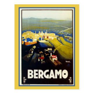 De Italiaanse reis van vintage jaren '20Bergamo Briefkaart
