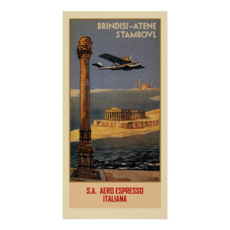 De Italiaanse vintage advertentie Brindisi Poster